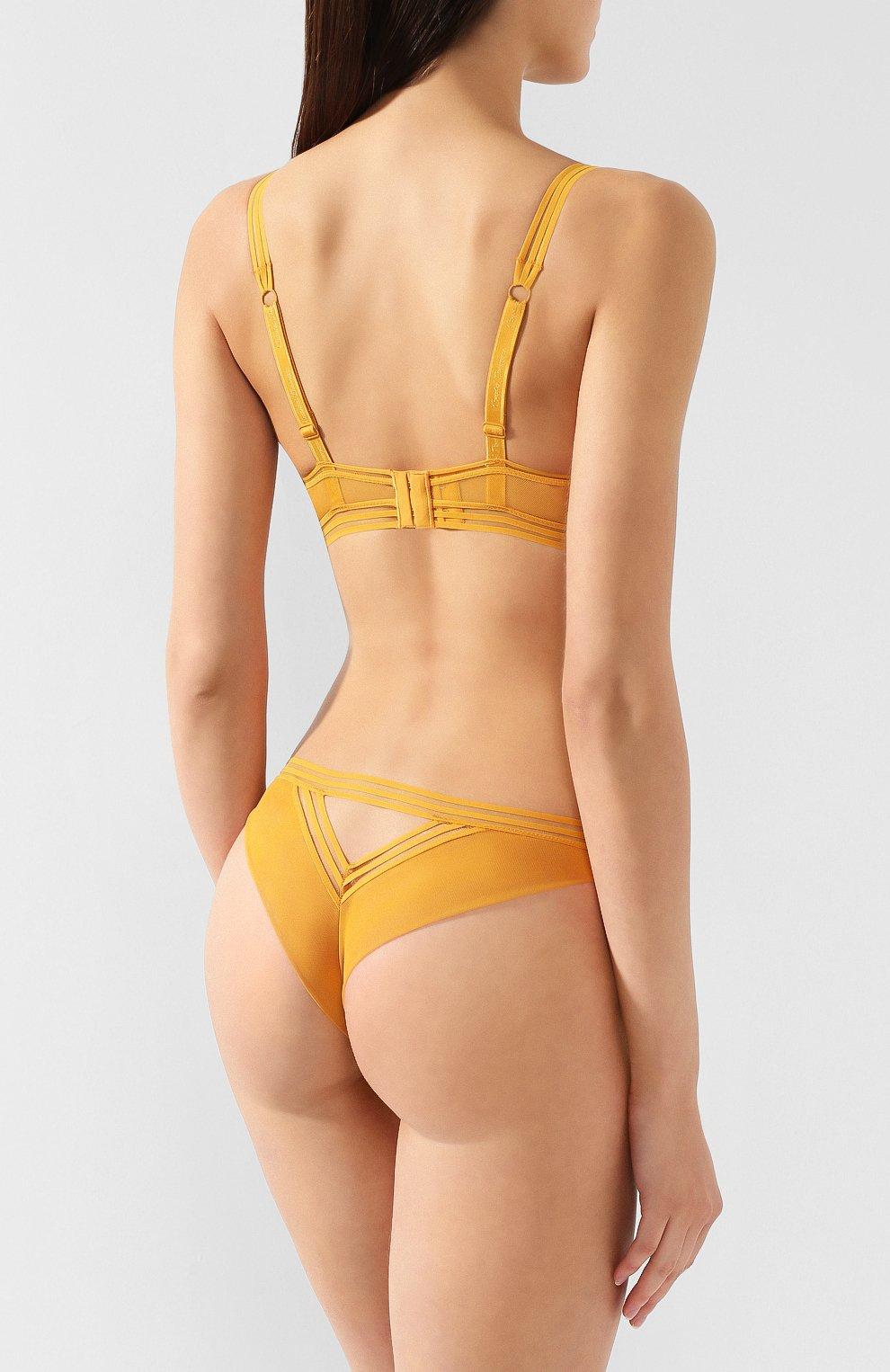 Женский бюстгальтер с плотной чашкой CHANTAL THOMASS желтого цвета, арт. 03C2_желт | Фото 3
