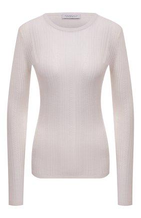 Женская пуловер из смеси кашемира и шелка GABRIELA HEARST белого цвета, арт. 119933 A003 | Фото 1