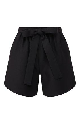 Женские шорты из смеси шерсти и шелка VALENTINO черного цвета, арт. SB0RF1551CF | Фото 1