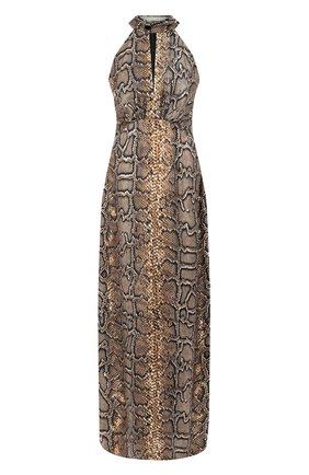 Женское шелковое платье VICTORIA BECKHAM хаки цвета, арт. DR FLR 61052C | Фото 1