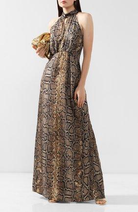 Женское шелковое платье VICTORIA BECKHAM хаки цвета, арт. DR FLR 61052C | Фото 2