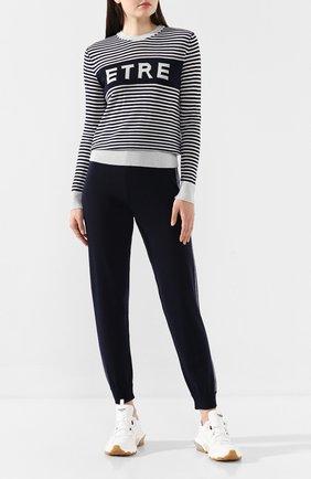 Женская пуловер из смеси шерсти и вискозы ETRE CECILE черно-белого цвета, арт. ETRE-BFK MERIN0 W00L/ LUREX | Фото 2