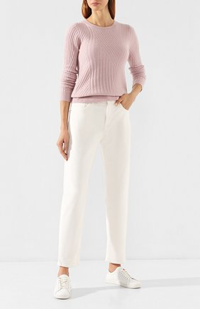 Женская пуловер из смеси шерсти и кашемира PRINGLE OF SCOTLAND розового цвета, арт. WTF074 | Фото 2