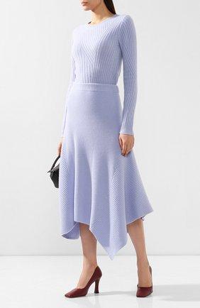Женская пуловер из смеси шерсти и кашемира PRINGLE OF SCOTLAND голубого цвета, арт. WTF074 | Фото 2