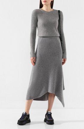Женская пуловер из смеси шерсти и кашемира PRINGLE OF SCOTLAND серого цвета, арт. WTF074 | Фото 2