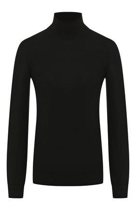 Женская шерстяная водолазка PRINGLE OF SCOTLAND черного цвета, арт. WTD009 | Фото 1