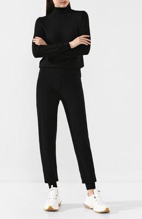 Женские брюки из смеси шерсти и кашемира PRINGLE OF SCOTLAND черного цвета, арт. WPF062 | Фото 2