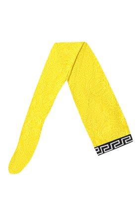 Женские кружевные колготки VERSACE желтого цвета, арт. AUD30015/AZ00018 | Фото 1