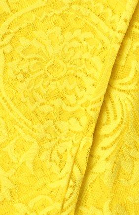 Женские кружевные колготки VERSACE желтого цвета, арт. AUD30015/AZ00018 | Фото 2