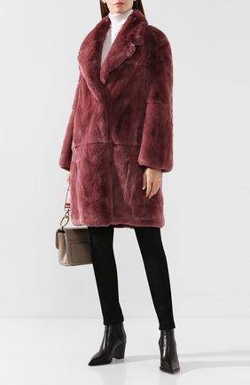 Женская шуба из меха кролика MATE OFFICIAL бордового цвета, арт. 94MF210A-L611091 | Фото 2