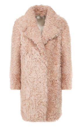 Женская шуба из овчины MATE OFFICIAL светло-розового цвета, арт. 94MF210B-06K2091 | Фото 1