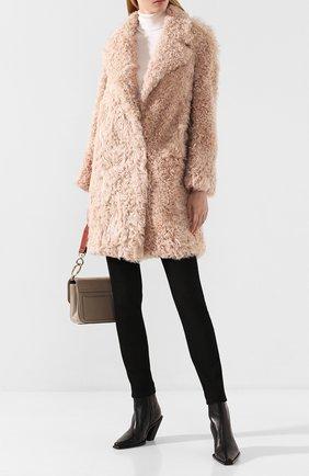 Женская шуба из овчины MATE OFFICIAL светло-розового цвета, арт. 94MF210B-06K2091 | Фото 2