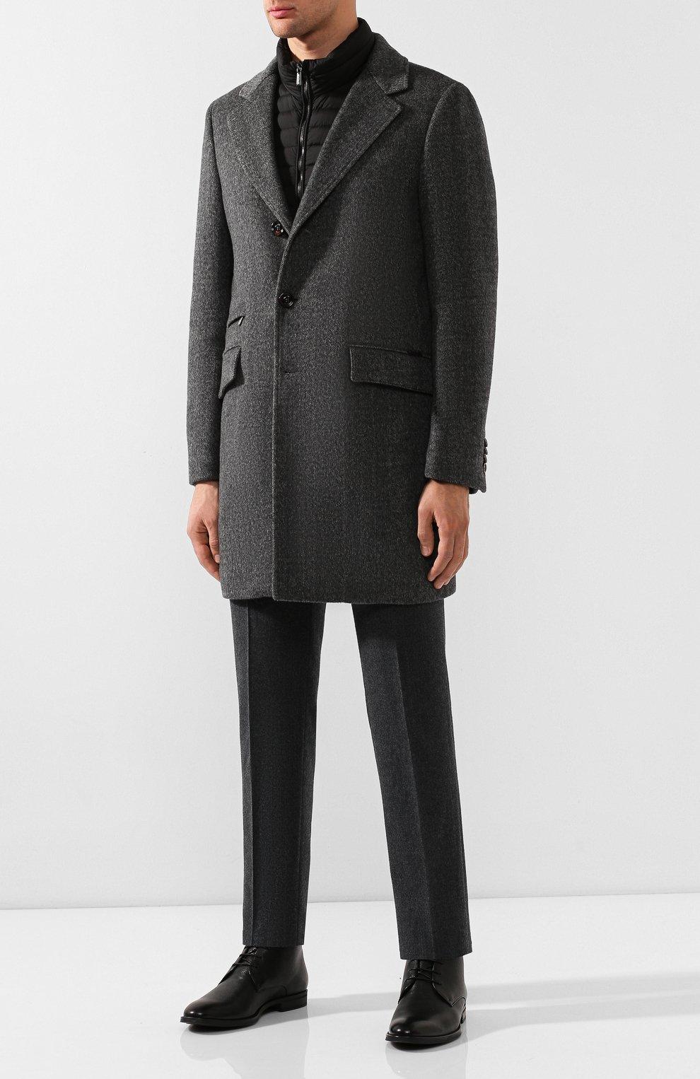 Мужские кожаные ботинки BOSS черного цвета, арт. 50418098 | Фото 2