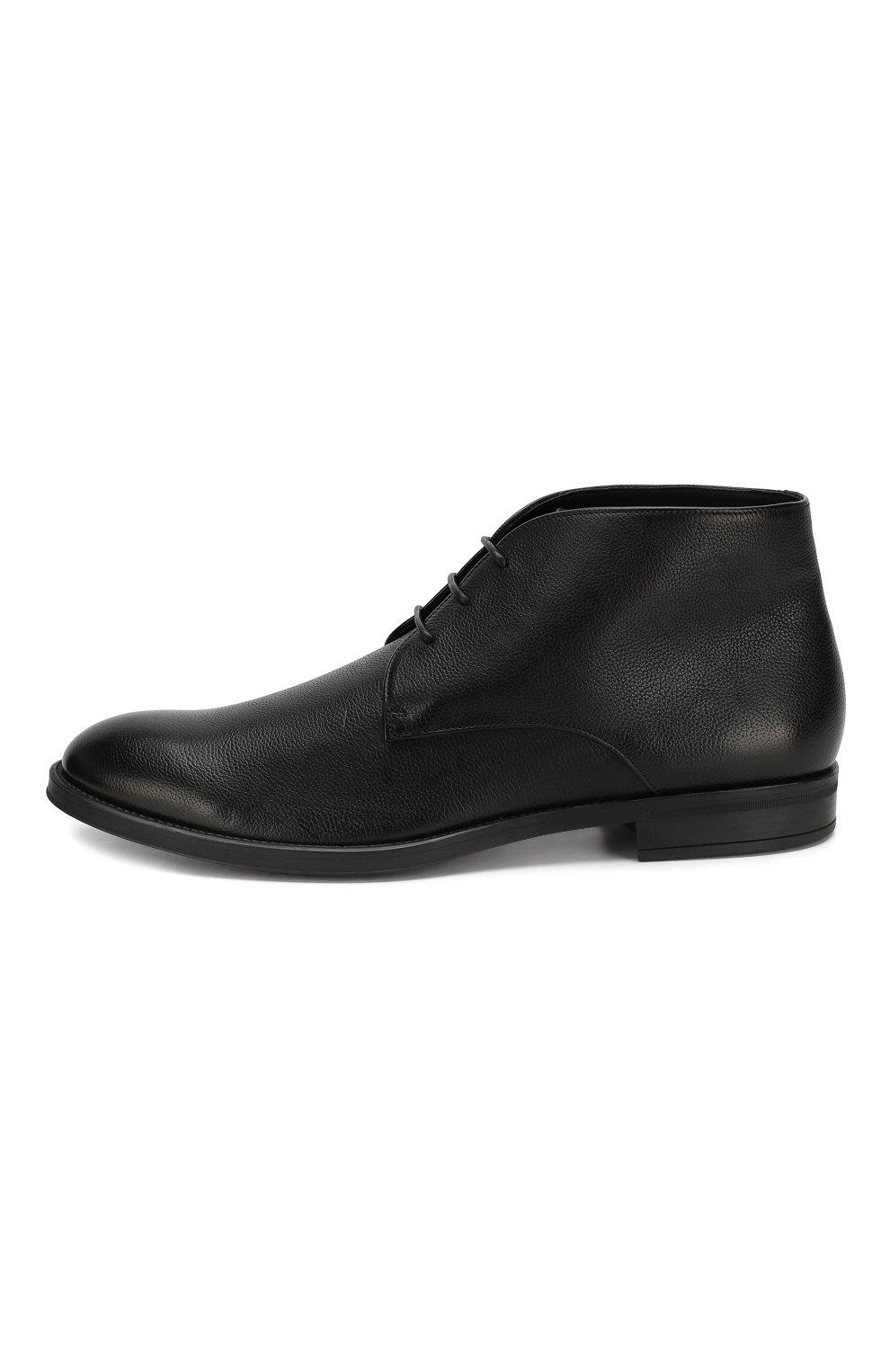 Мужские кожаные ботинки BOSS черного цвета, арт. 50418098 | Фото 3