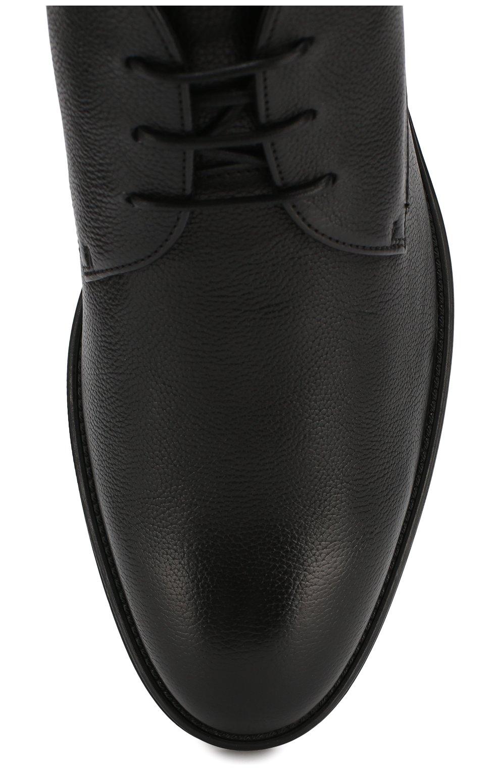Мужские кожаные ботинки BOSS черного цвета, арт. 50418098 | Фото 5