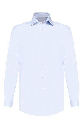 Мужская хлопковая сорочка BRIONI светло-голубого цвета, арт. RCLU1W/0804M | Фото 1