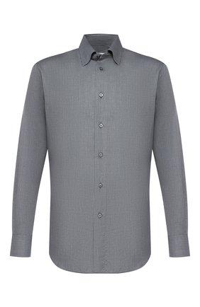 Мужская сорочка из смеси хлопка и кашемира BRIONI серого цвета, арт. SCCA0L/0602I | Фото 1
