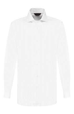 Мужская хлопковая сорочка ZEGNA COUTURE белого цвета, арт. 602075/9NS0LB | Фото 1