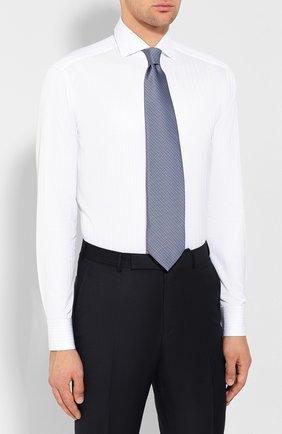 Мужская хлопковая сорочка ZEGNA COUTURE белого цвета, арт. 602075/9NS0LB   Фото 4