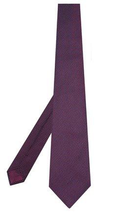Мужской шелковый галстук BRIONI фиолетового цвета, арт. 062H00/08440   Фото 2