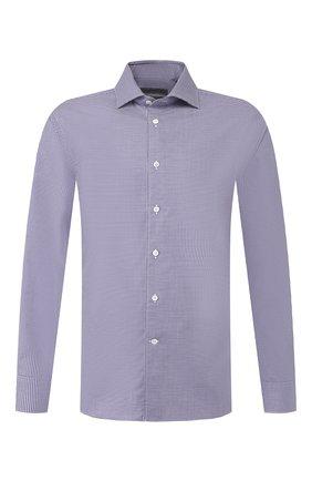 Мужская хлопковая сорочка CORNELIANI синего цвета, арт. 84P100-9811269/00 | Фото 1