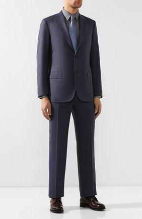 Мужской костюм из смеси шерсти и шелка BRIONI синего цвета, арт. RAH00M/08A63/PARLAMENT0 | Фото 1