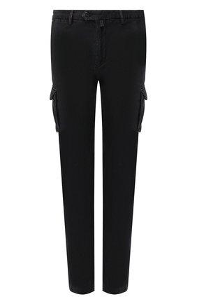 Мужские хлопковые брюки-карго KITON черного цвета, арт. UFPPCAJ03S69   Фото 1