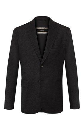 Мужской шерстяной пиджак BRIONI темно-серого цвета, арт. UJBD0L/08631 | Фото 1
