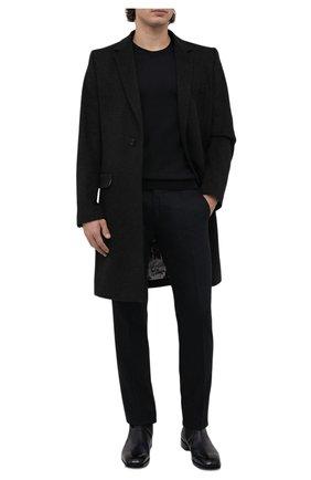 Мужские брюки из шерсти и кашемира ANDREA CAMPAGNA зеленого цвета, арт. SC/1/FA2064 | Фото 2 (Материал внешний: Шерсть; Длина (брюки, джинсы): Стандартные; Материал подклада: Купро; Случай: Формальный; Стили: Классический)
