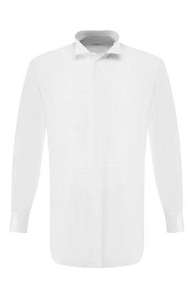 Мужская хлопковая сорочка BRIONI белого цвета, арт. RCC80R/PZ04I | Фото 1
