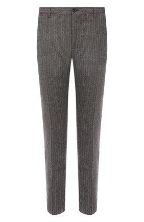 Мужские шерстяные брюки DOLCE & GABBANA светло-серого цвета, арт. GY6FET/FRMCZ | Фото 1