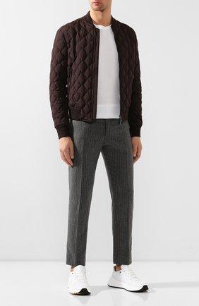 Мужские шерстяные брюки DOLCE & GABBANA светло-серого цвета, арт. GY6FET/FRMCZ | Фото 2