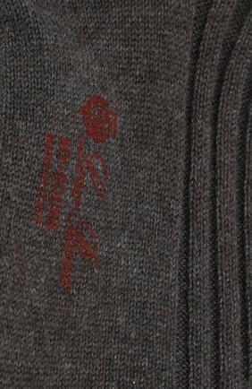 Мужские кашемировые гольфы LORO PIANA серого цвета, арт. FAI8952   Фото 2