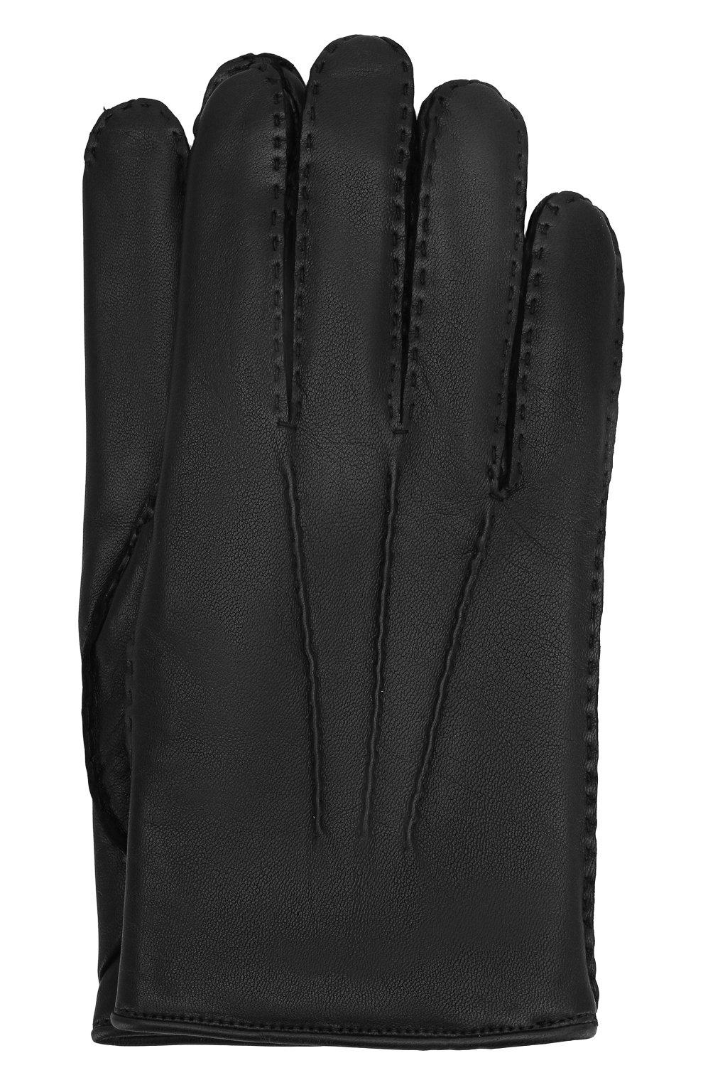 Мужские кожаные перчатки ZEGNA COUTURE черного цвета, арт. GK246/LHNPA   Фото 1