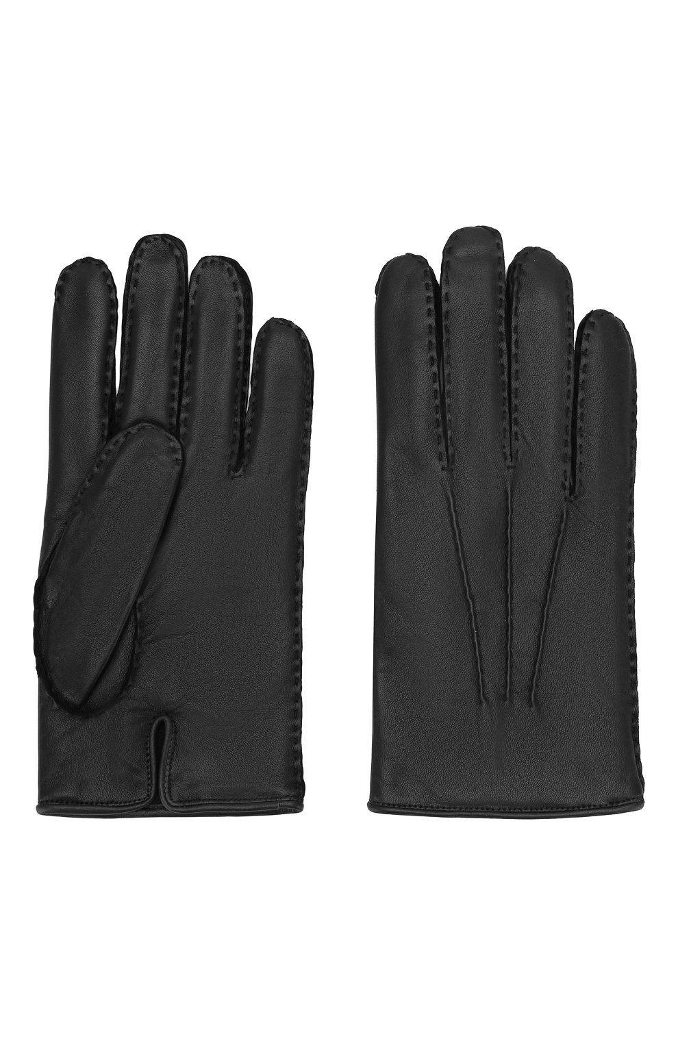 Мужские кожаные перчатки ZEGNA COUTURE черного цвета, арт. GK246/LHNPA   Фото 2
