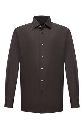 Мужская хлопковая сорочка ERMENEGILDO ZEGNA хаки цвета, арт. 601065/9MS0BR | Фото 1