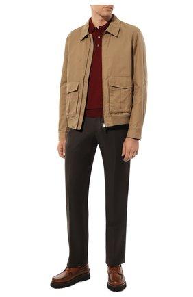 Мужской шерстяные брюки ZILLI коричневого цвета, арт. M0S-40-38N-B6406/0001 | Фото 2