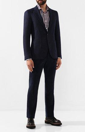 Мужская хлопковая рубашка LUIGI BORRELLI разноцветного цвета, арт. EV08/NAND0/TS6793 | Фото 2