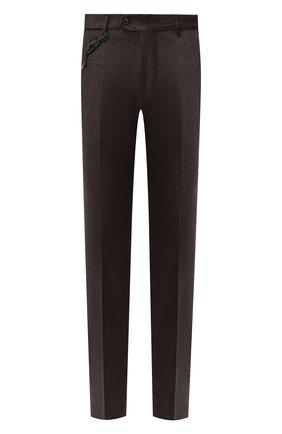 Мужской шерстяные брюки BERWICH темно-коричневого цвета, арт. ZIP/1 ALC/VB2108 | Фото 1