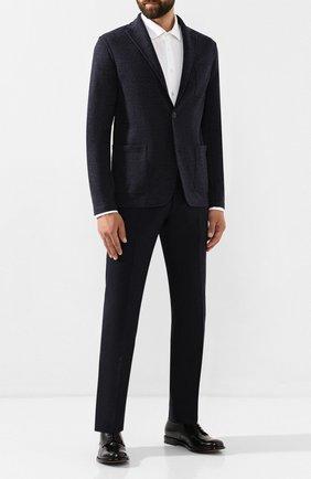 Мужские шерстяные брюки BERWICH темно-синего цвета, арт. ZIP/1 ALC/VB1504 | Фото 2