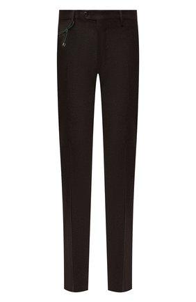 Мужской шерстяные брюки BERWICH темно-коричневого цвета, арт. ZIP/1 ALC/VB1504 | Фото 1