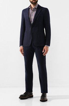Мужские хлопковые брюки ANDREA CAMPAGNA темно-синего цвета, арт. SC/1/DV0001   Фото 2