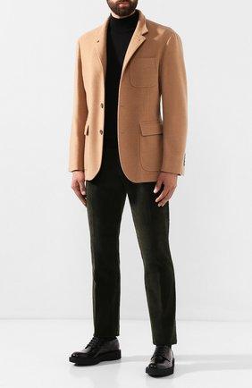 Мужские хлопковые брюки ANDREA CAMPAGNA зеленого цвета, арт. SC/1/DV0001 | Фото 2 (Материал внешний: Хлопок; Статус проверки: Проверена категория, Проверено; Длина (брюки, джинсы): Стандартные; Случай: Повседневный; Стили: Кэжуэл)
