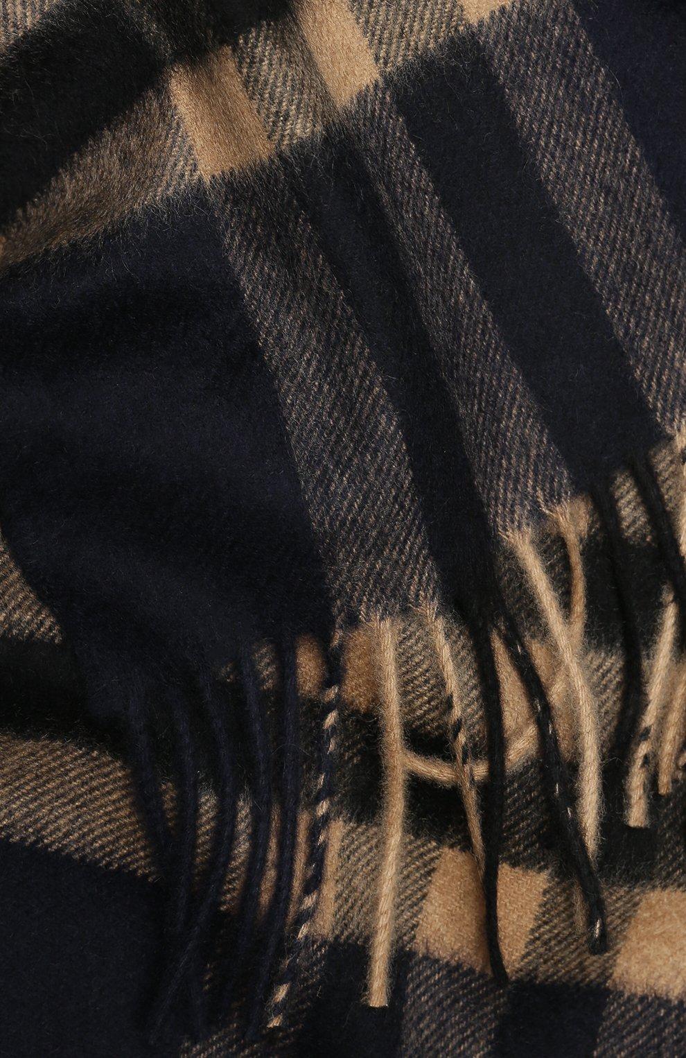 Мужской кашемировый шарф BURBERRY разноцветного цвета, арт. 8022346 | Фото 2 (Материал: Кашемир, Шерсть; Кросс-КТ: кашемир; Статус проверки: Проверена категория)