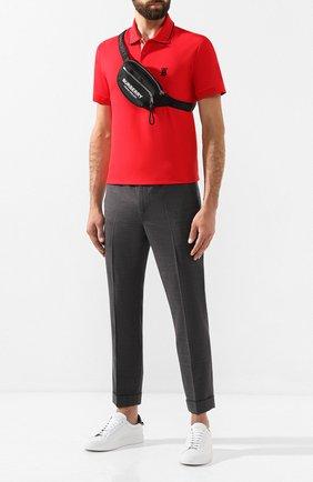 Мужская текстильная поясная сумка BURBERRY черного цвета, арт. 8021091 | Фото 2
