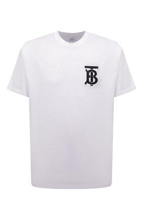 Мужская хлопковая футболка BURBERRY белого цвета, арт. 8017485 | Фото 1 (Статус проверки: Проверено, Проверена категория; Длина (для топов): Стандартные; Материал внешний: Хлопок; Мужское Кросс-КТ: Футболка-одежда; Рукава: Короткие; Стили: Кэжуэл; Принт: С принтом)