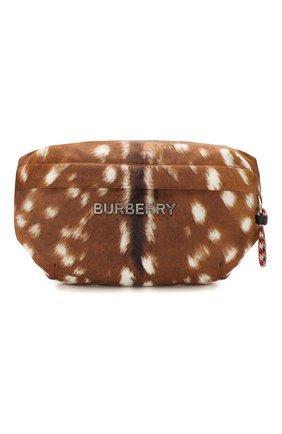 Мужская текстильная поясная сумка BURBERRY оранжевого цвета, арт. 8016214 | Фото 1