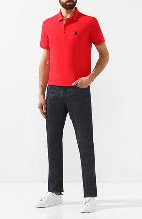 Мужские джинсы BURBERRY синего цвета, арт. 8014340 | Фото 2