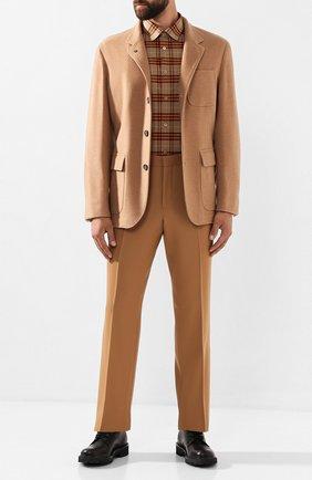 Мужской шерстяные брюки BURBERRY бежевого цвета, арт. 4558256 | Фото 2