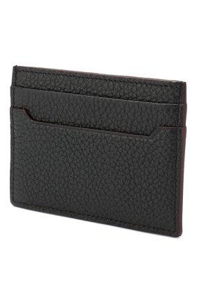Мужской кожаный футляр для кредитных карт BRIONI темно-синего цвета, арт. 0HSI0L/04702 | Фото 2